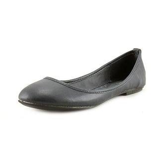 Mia Ballerina Women Round Toe Synthetic Blue Flats