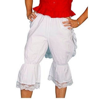 Scully Western Bloomers Womens Cotton Solid Knee High Ruffles RW572