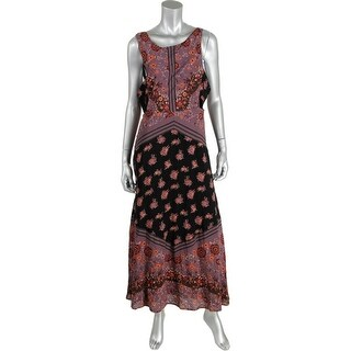 Free People Womens Printed Cut-Out Casual Dress