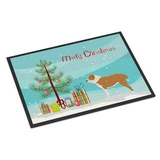 Carolines Treasures BB2946MAT Central Asian Shepherd Dog Merry Christmas Tree Indoor or Outdoor Mat 18x27