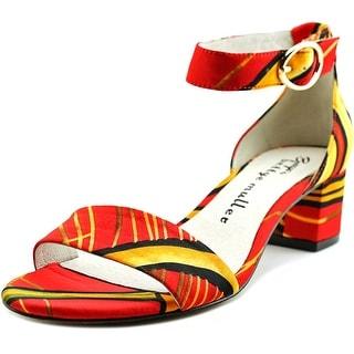 Bettye Muller Buzz Women  Open Toe Canvas Red Sandals