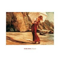 ''Parasol'' by Mark Spain Kunst Graphics Art Print (15.75 x 19.75 in.)