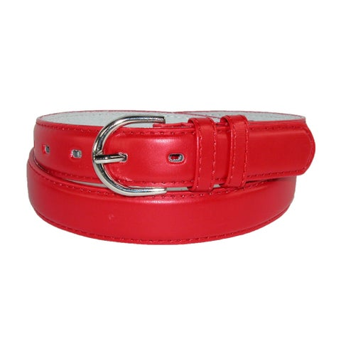 CTM® Women's Leather 1 1/8 Inch Dress Belt