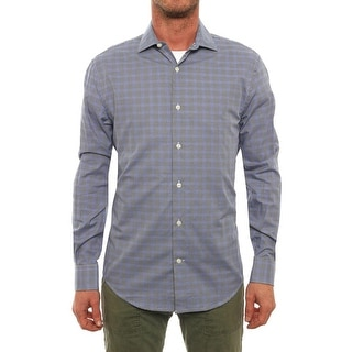 Perry Ellis Long Sleeve Collared Neck Button Down Men Regular Casual