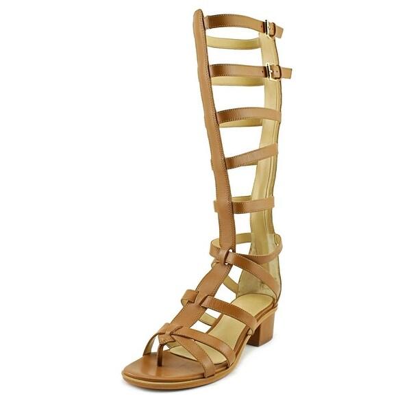 Marc Fisher Fair Women Open Toe Leather Brown Gladiator Sandal