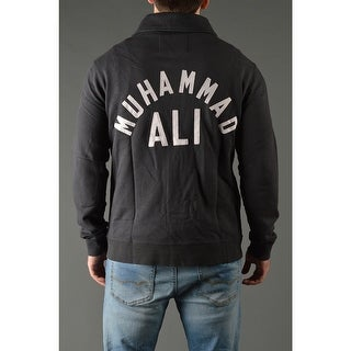 Roots of Fight Muhammad Ali GOAT Throwback Button-Front Cardigan Jacket - Black