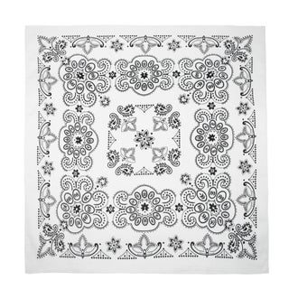 CTM® 27 Inch Extra Large Cotton Texas Paisley Bandana - One size (Option: White)