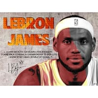 LeBron James Poster Back to Cavs Quote Art Print (18x24)