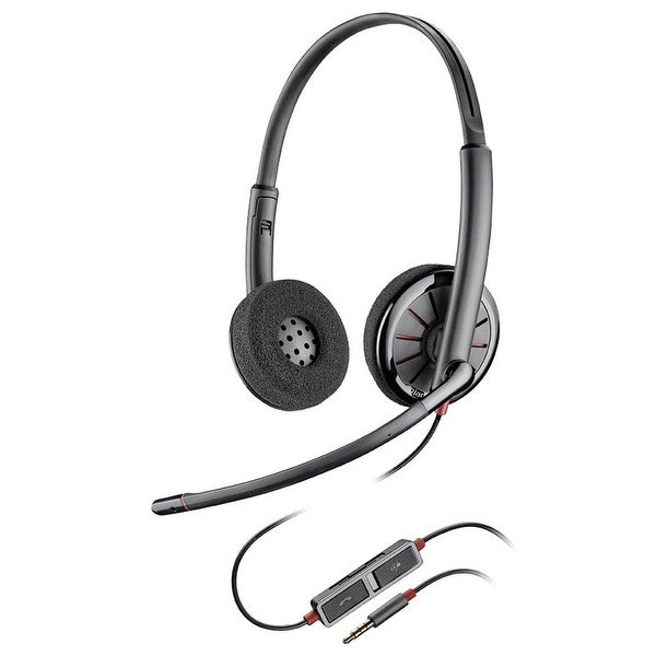 72d6b3e1bc7 Shop Plantronics Blackwire C225 Stereo Corded Headset - Free ...