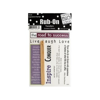 Inspirational Sayings Rub-On Transfers - Pack of 24