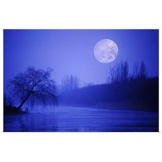 """""""River at night"""" Poster Print"""