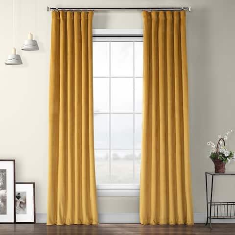 Exclusive Fabrics Heritage Plush Velvet Sing Curtain (1 Panel)