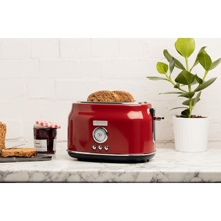 Link to Haden Dorset 2 Slice, Wide Slot, Stainless Steel Toaster Similar Items in Kitchen Appliances