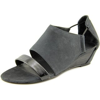 Matisse Port Open Toe Leather Wedge Sandal