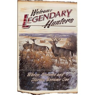 Legendary Whitetails Natural Wood Welcome Sign - Brown