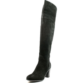 Butter Dodge Round Toe Suede Over the Knee Boot