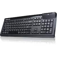 Iogear 104-Key Keyboard With Integrated Smart Card Reader, Gkbsr201