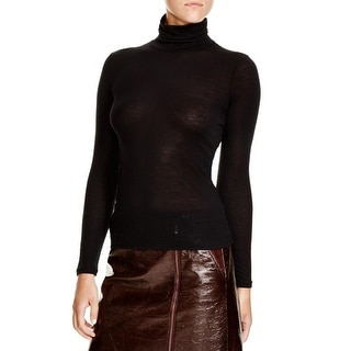 Theory Womens Casual Top Ribbed Long Sleeves - s