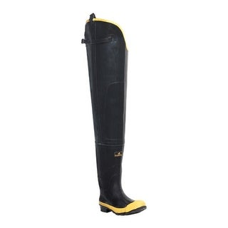 "LaCrosse Industrial Men's 32"" Economy Hip Boot ST Black/Yellow"