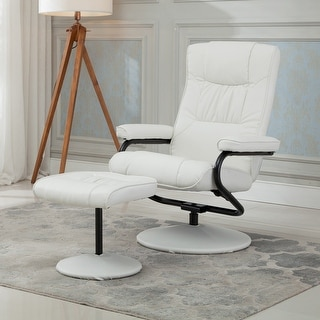 Belleze Premium Leather Recliner and Ottoman Set Reclining Chair Home Living Room White & Swivel Recliner Chairs u0026 Rocking Recliners - Shop The Best Deals ... islam-shia.org