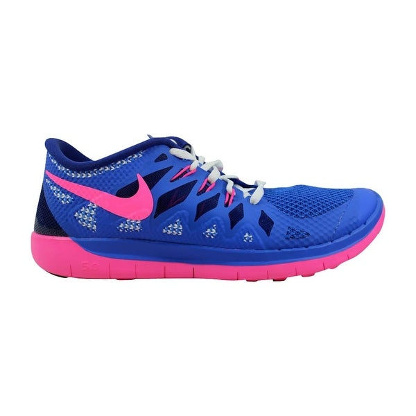 huge discount 1ecc8 fb4e6 Nike Grade-School Free 5.0 Hyper Cobalt Hyper Pink-Deep Royal Blue 644446