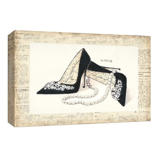 """PTM Images 9-154006  PTM Canvas Collection 8"""" x 10"""" - """"From Emily's Closet IV"""" Giclee Shoes Art Print on Canvas"""