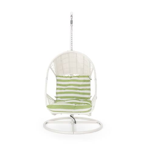 Malia Wicker Hanging Chair with Stand by Christopher Knight Home