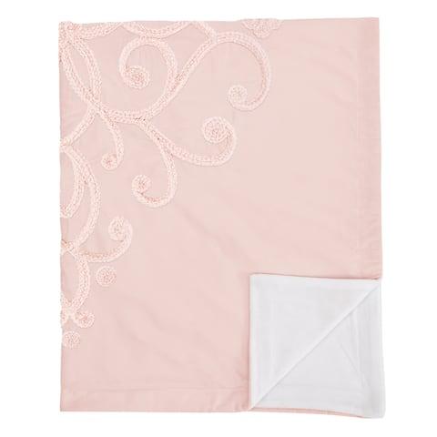 Pink Boho Bohemian Girl Baby Receiving Security Swaddle Blanket - Solid Blush Shabby Chic Princess Luxurious Luxury Elegant