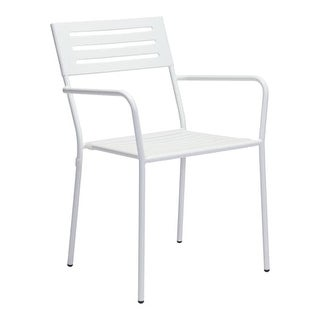 "Zuo Modern 703610 Wald 22"" Wide Metal Frame Stackable Outdoor Dining Chair"