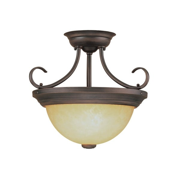 Millennium Lighting 5201 2-Light Semi-Flush Ceiling Fixture - Rubbed bronze - n/a