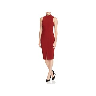 Likely Womens Wear to Work Dress Front Slit Mock Neck