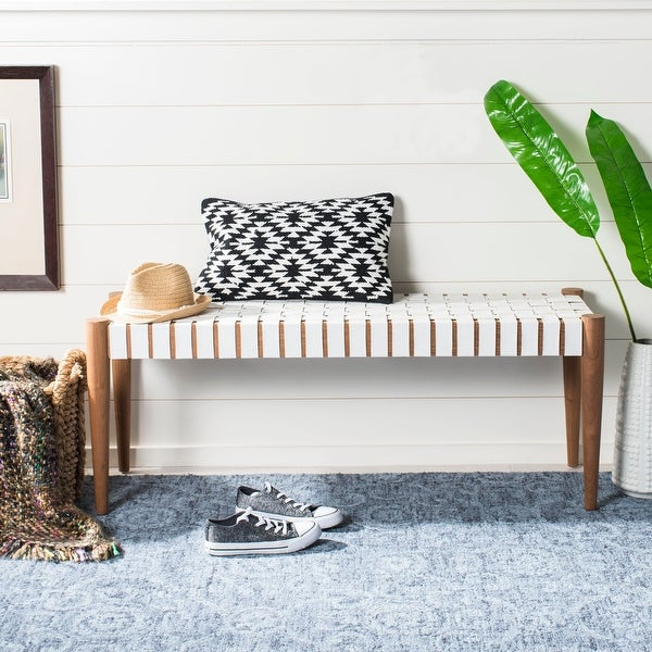 SAFAVIEH Amalia Cowhide Bench. Opens flyout.