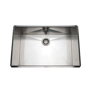 """Rohl RSS3018 30"""" Stainless Steel Kitchen Sink with Tangent Edge"""