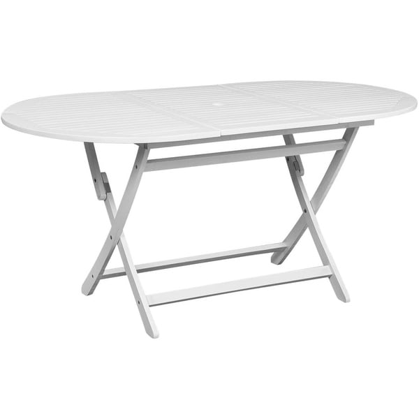 Shop VidaXL Solid Wood Outdoor Dining Table Foldable 63
