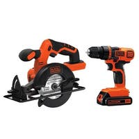 Stanley Black & Decker Bd2kitcddcs 20V Lithium Ion Drill/Driver W/ Circular Saw Combo Kit