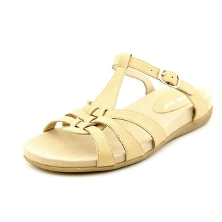 David Tate Squeeze Women N/S Open Toe Leather Nude Slides Sandal