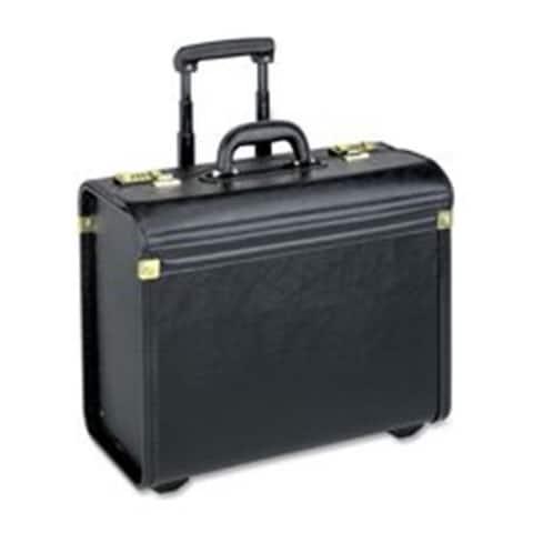 Lorell LLR61613 Rolling Catalog Case Oversized 22 in. x 14 in. x 8 in. Black