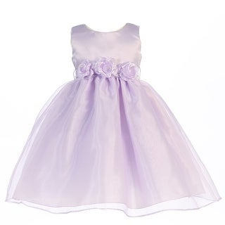fb2b05ceaa3 Shop Girls Lilac Satin Organza 3 Flower Sash Flower Girl Dress 7-12 - Ships  To Canada - Overstock - 18169076