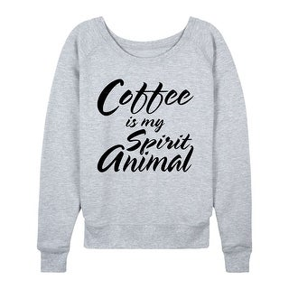 Coffee Is My Spirit Animal - Ladies Lightweight French Terry Pullover