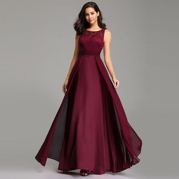 9c95c3292168 Ever-Pretty Womens Lace Chiffon Formal Evening Party Bridesmaid Dress 07695