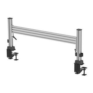 Monoprice Slat Desk System Starter 3pcs Set - Sliver Includes Two Vertical Column Pieces & One Horizontal Rail Piece.