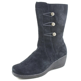 Propet Simone D Round Toe Suede Mid Calf Boot