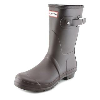 Hunter Original Short Round Toe Synthetic Rain Boot