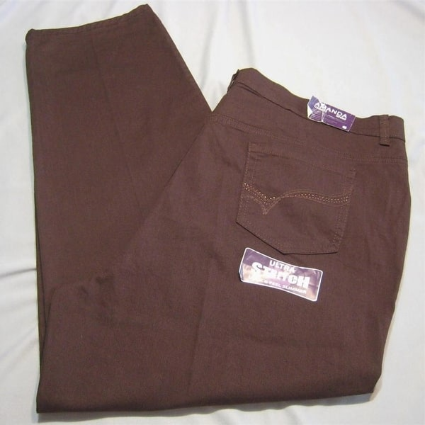 941a9bd46ae31a Shop Gloria Vanderbilt Amanda Sparkle Jeans Womens Brown Jeans 24W ...