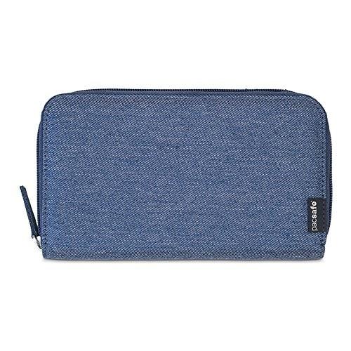 Pacsafe RFIDsafe LX250 - Denim RFID Blocking Travel Wallet w/ Zippered Closure