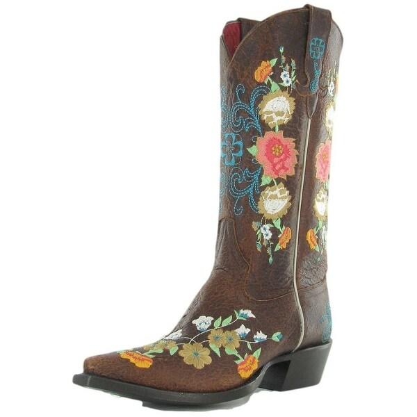 Macie Bean Western Boots Women Cowboy Floral Sweet Sixteen Brown