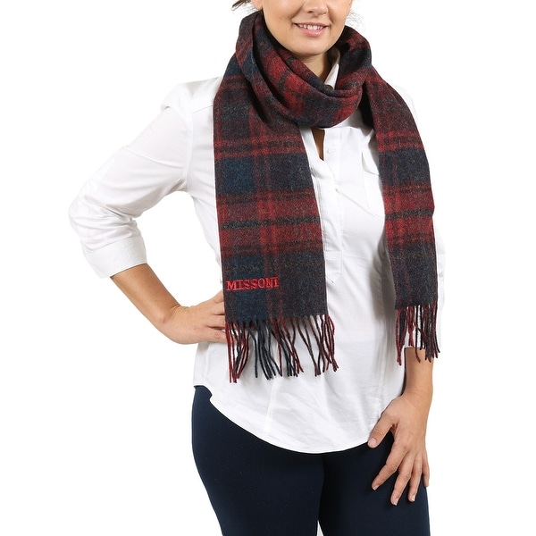 Missoni SCI6WOU55220001 Navy/ Red Scarf - 14-72. Opens flyout.