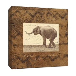 "PTM Images 9-153073  PTM Canvas Collection 12"" x 12"" - ""Elephant"" Giclee Safari Animals Art Print on Canvas"