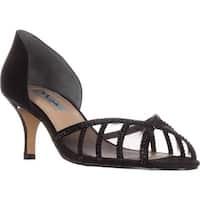 Nina Corita Peep Toe Kitten Heels, Black