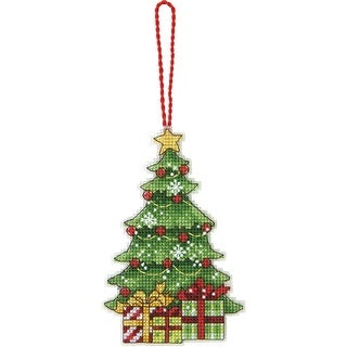"""Susan Winget Tree Ornament Counted Cross Stitch Kit-3""""X4.75"""" 14 Count Plastic Canvas"""